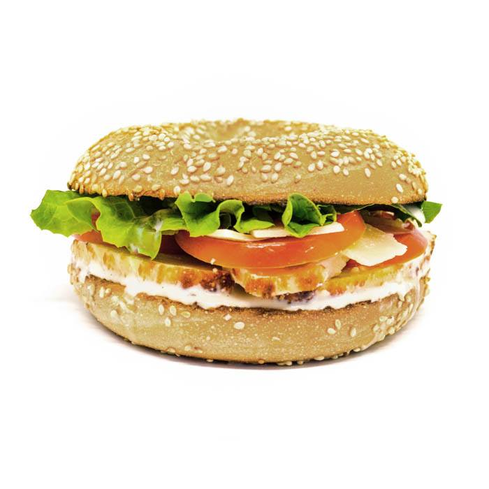 Bagel Chicken Caesar